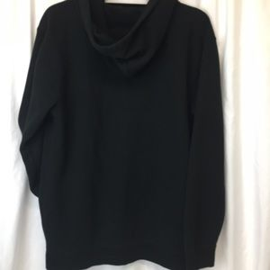 Vans Shirts - Vans Black Sweatshirt Off The Wall Zip Up Hoodie M